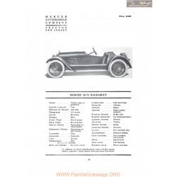 Mercer 22 37 Racebout Fiche Info 1917