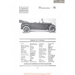 Mercer 22 37 Touring Fiche Info 1917