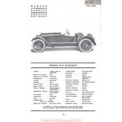 Mercer 22 73 Racebout Fiche Info 1917