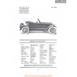 Mercer 22 73 Runabout Fiche Info 1917