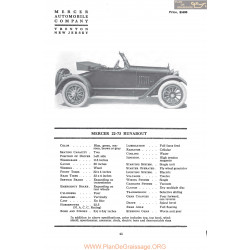 Mercer 22 73 Runabout Fiche Info Mc Clures 1917