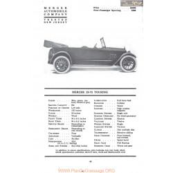 Mercer 22 73 Touring Fiche Info 1917