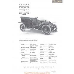Mercer A Touring Fiche Info 1910