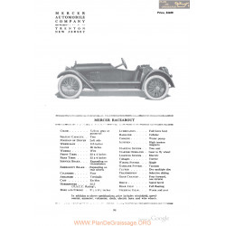 Mercer Raceabout Fiche Info 1918