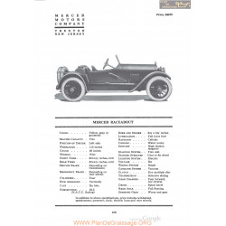 Mercer Raceabout Fiche Info 1920