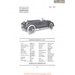 Mercer Racebout 22 72 Fiche Info 1916