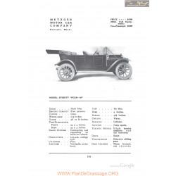 Metzger Everitt Four 36 Fiche Info 1912