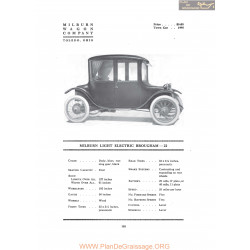 Milburn Light Electric Brougham 22 Fiche Info 1917