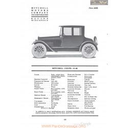 Mitchell Coupe E 40 Fiche Info 1920