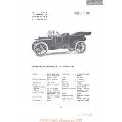 Moline Dreadnought 35 Touring Fiche Info 1912