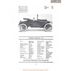 Monroe Roadster M3 Fiche Info 1917