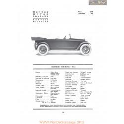 Monroe Touring M4 Fiche Info 1917