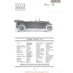 Monroe Touring M4 Fiche Info Mc Clures 1917
