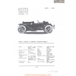 National 40 Speedway Roadster Series V Fiche Info 1912