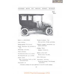 Northern C Limousine Fiche Info 1907
