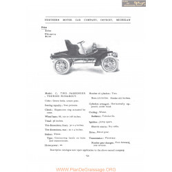 Northern C Two Passenger Touring Runabout Fiche Info 1907