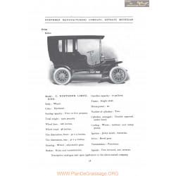 Northern Model C Lomousine Fiche Info 1906