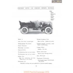 Northern Model L Fiche Info 1907