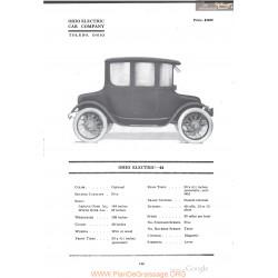 Ohio Electric 44 Fiche Info 1918
