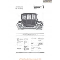 Ohio Electric Brougham 62 Fiche Info 1916