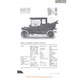 Packard 1912 Eighteen Landaulet Fiche Info 1912