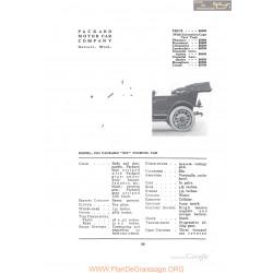 Packard 1912 Six Touring Fiche Info 1912