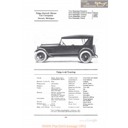 Paige 6 44 Touring Fiche Info 1922