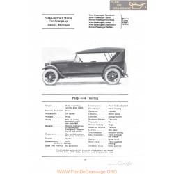 Paige 6 66 Touring Fiche Info 1922