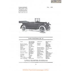 Paige Fleetwood Six 38 Fiche Info 1916