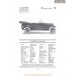 Paterson 6 45 Touring Fiche Info 1917