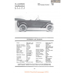 Paterson 6 45 Touring Fiche Info Mc Clures 1917