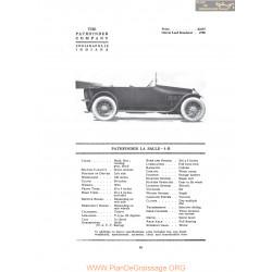 Pathfinder La Salle 1b Fiche Info 1916