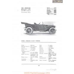 Peerless 38 Six Torpedo Fiche Info 1912