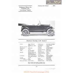 Piedmont Touring 4 30 Series F Fiche Info 1922