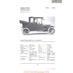 Pierce Arrow 36hp Landaulet Fiche Info 1912
