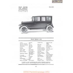 Pilot Sedan 6 45 Fiche Info 1919