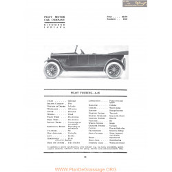 Pilot Touring 6 45 Fiche Info 1919
