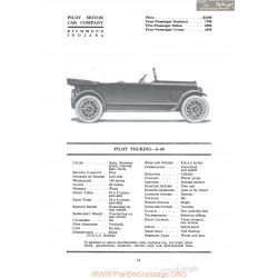 Pilot Touring 6 45 Fiche Info 1920