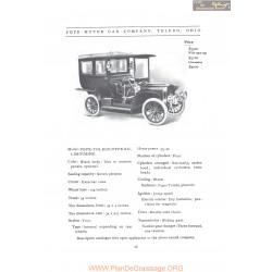 Pope Toledo Type Xii Limousine Fiche Info 1907