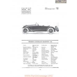 Premier Cloverleaf Roadster 6 56 Fiche Info 1916