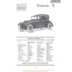 Premier Foursome 6 C Fiche Info 1918