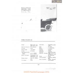 Pullman 4 30 Fiche Info 1912