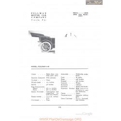 Pullman 4 40 Fiche Info 1912