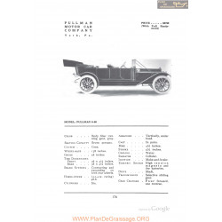 Pullman 6 60 Fiche Info 1912