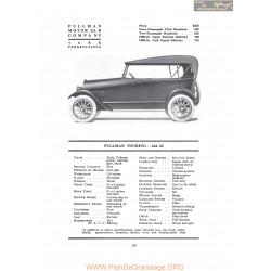 Pullman Touring 424 32 Fiche Info 1917