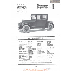 R&v Knight Coupe J Fiche Info 1920