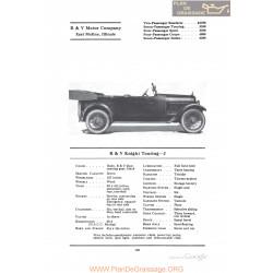 R&v Knight Touring J Fiche Info 1922