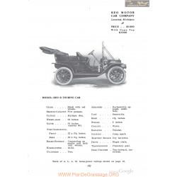 Reo D Touring Fiche Info 1910