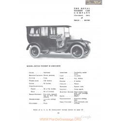 Royal Tourist M Limousine Fiche Info 1910