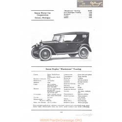 Saxon Duplex Blackstone Touring Fiche Info 1922